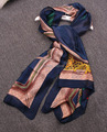 2015 New Arrivals Marca de Luxo De Cetim De Seda Quadriculado Cachecol Grande Longa Das Senhoras Lenços de Verão Da Europa Moda Hijabs Frete Grátis