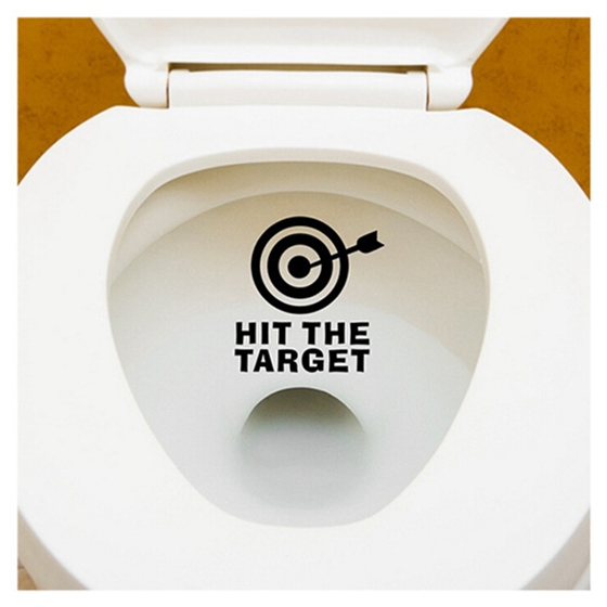 DIY Arrow&Target Toilet Seat Bathroom Sticker Home Refrigerator Wall Decal Black