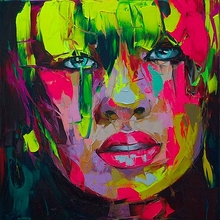 Abstract Face Painting  Impasto figure Knife Printed On canvas Wall Art Pictures Modern Wholesale