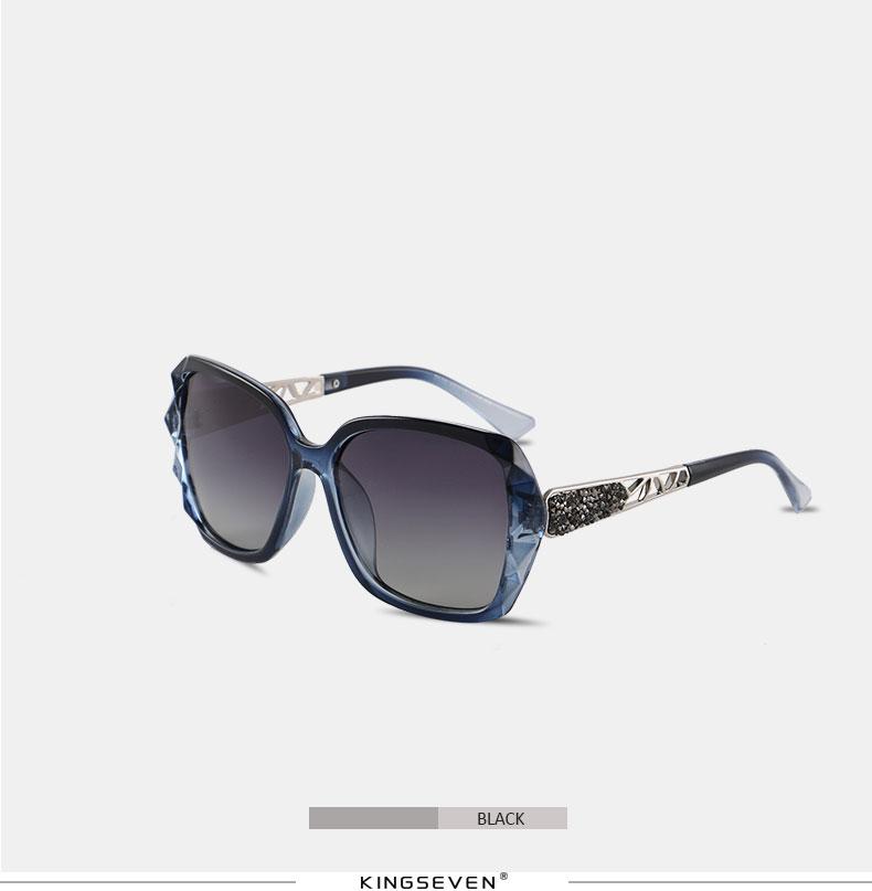 KINGSEVEN Sunglasses Women Gradient Polarized Diamond Frame Sun Glasses For Driving Luxury Lady Shades Eyewear Accessories 7538 10