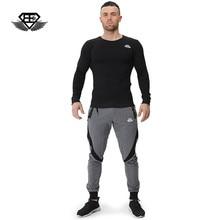 Body engineers 2017 men's fashion fitness Sweatshirts muscle side zipper long sleeve Bottoming shirt O-Neck Loose cotton coat