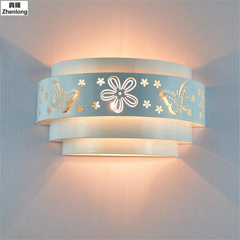 Светодиодный гостиничном номере модные идеи ночники современный прохода Настенные светильники E27 светодиодный лампы лепесток свет Интелл...
