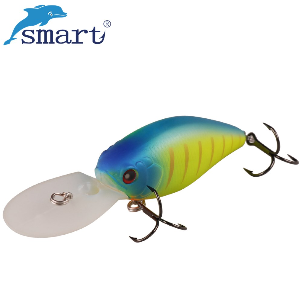 Smart Floating Deep Diving Crankbait Fishing Lures 70mm 19.6g Lifelike Wobblers Hard Bait with VMC Hooks Peche Isca Artificial