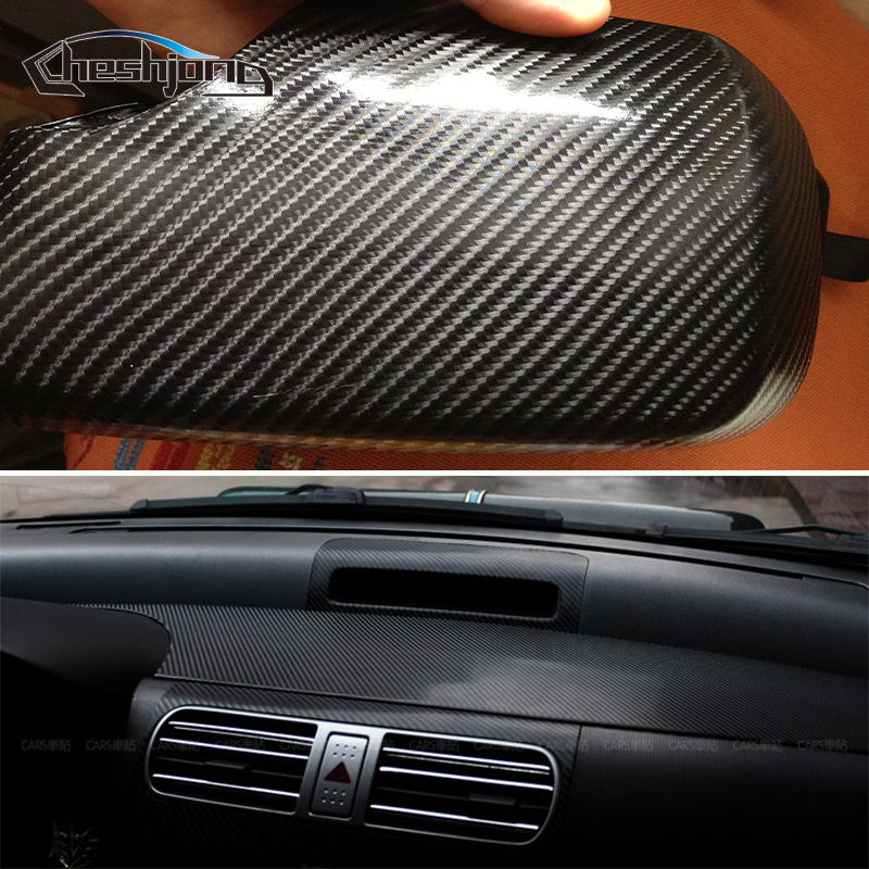 Black 4D Carbon Fiber Vinyl Glossy 4D Texture Car Wrap Motocycle Decal Sticker Wrap With Air Bubble Free Color Change Film limited sales 3mx50cm 118 x20 4d carbon fiber vinyl film sticker wrapping decal bubble free black for car truck suv body
