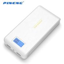 100% оригинал горячей Pineng мобильного Запасные Аккумуляторы для телефонов PN-952 15000 мАч Dual USB ЖК-дисплей фонарик Мощность банк внешние телефоны Батарея Зарядное устройство