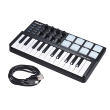 WORLDE Panda MINI 25 Key USB Ultra Portatile Controller Tastiera MIDI 8 Colorato Retroilluminato Trigger Pad