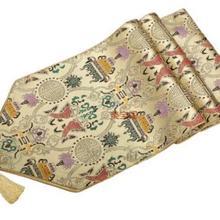 200*33 см благородная винтажная Роскошная ручная парча 2 Рыбная кисточка роза Желтая настольная дорожка покрывало