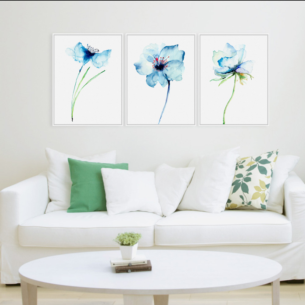 Watercolor Minimalist Alpine Orchid Vintage Poster Prints Simple Flowers Picture Canvas Paintings Gifts Home Decor Wall