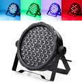 DMX Control 54 RGBW LED Par Light For Disco Party DJ Lamp Music Show Projector Stage Strobe Lighting Effect