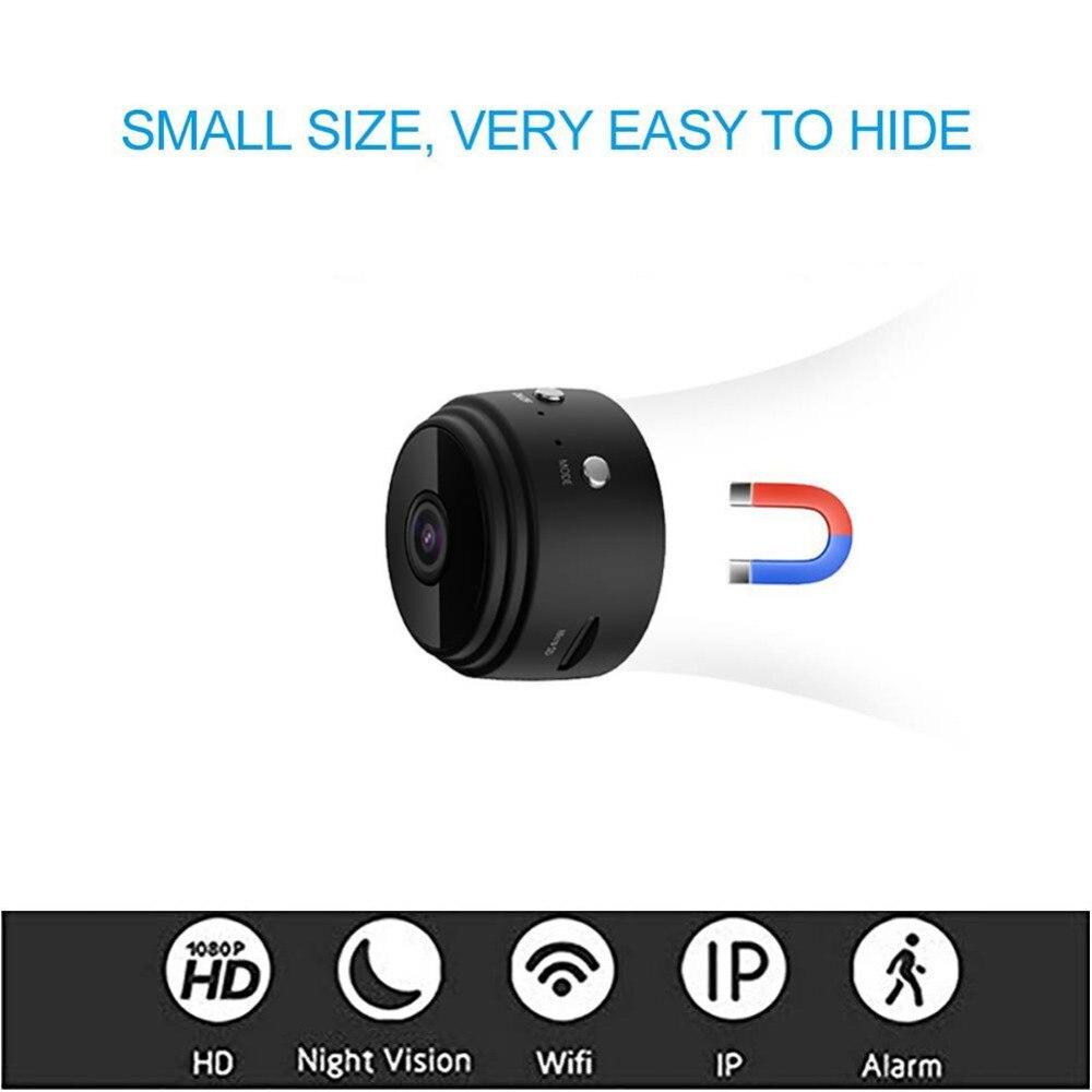 Nouveau A9 Full HD 1080 P sans fil Wifi caméra infrarouge Vision nocturne Micro caméra IP P2P Mini caméra détection de mouvement DV DVR caméra