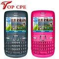 Marca nokia c3 teléfono celular abierto original de nokia c3/c3-00 wifi bar garantía de un año