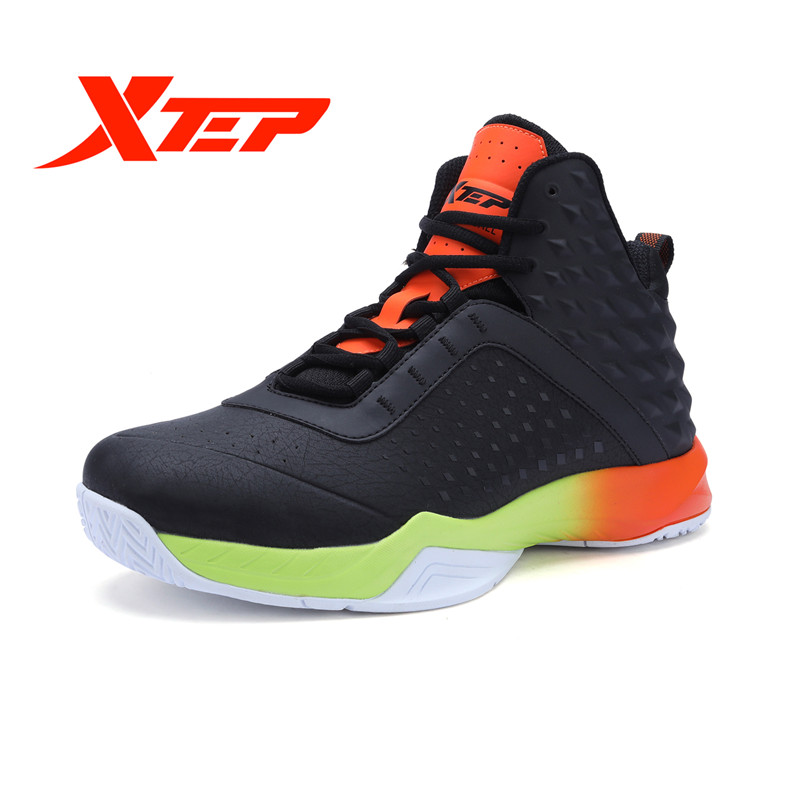 XTEP Authentic Men's Basketball Boots Outdoor Anti-slip Gym Breathable Sneakers Sports Shoes free shipping 983419129075 peak sport men outdoor bas basketball shoes medium cut breathable comfortable revolve tech sneakers athletic training boots
