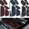 17 Unids/set Con Logo Car-Styling Látex Anti Non Slip Pad Ranura Puerta estera de la Taza/estera de puerta Para Ford Focus 2015 2016 2017 envío gratis