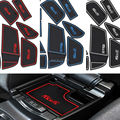 17Pcs/set With Logo Car-Styling Latex Anti Non Slip Gate Slot Pad Mat Cup/door mat For Ford Focus 2015 2016 2017 free shipping