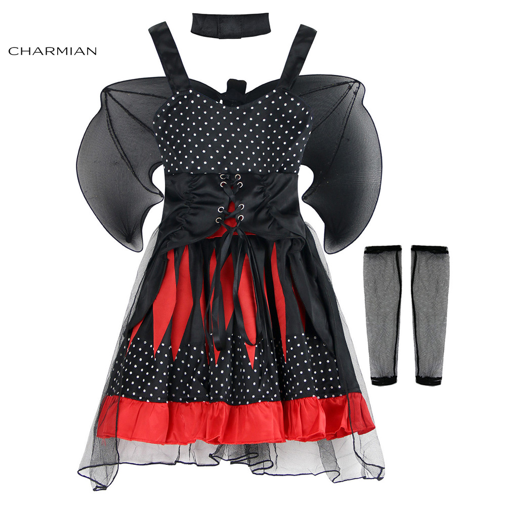 Charmian Batty Princess Halloween Costumes for Girls Cosplay Fancy Dress Masquerade Party Halloween Costume Clothing