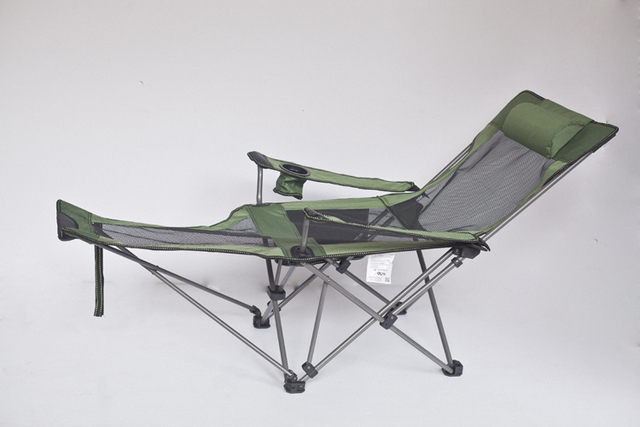 Portable Folding Reclining Chair Beach Chairs Outdoor Fishing Chair