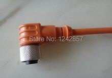 M8 * 1, 2 fios AC NO/NC, DC NO/NC 2 metros ângulo plug conector do sensor sem levou feminino
