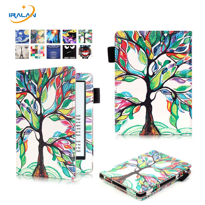 Hot Case Cover for Amazon New Kindle 2016 8th 6 generation ebook PU Leather Painted inner frame for 6 inch +pen+Screen Film new 6 ed060sc7 lf c1 e ink lcd display for amazon kindle 3 k3 ebook reader large amount in stock