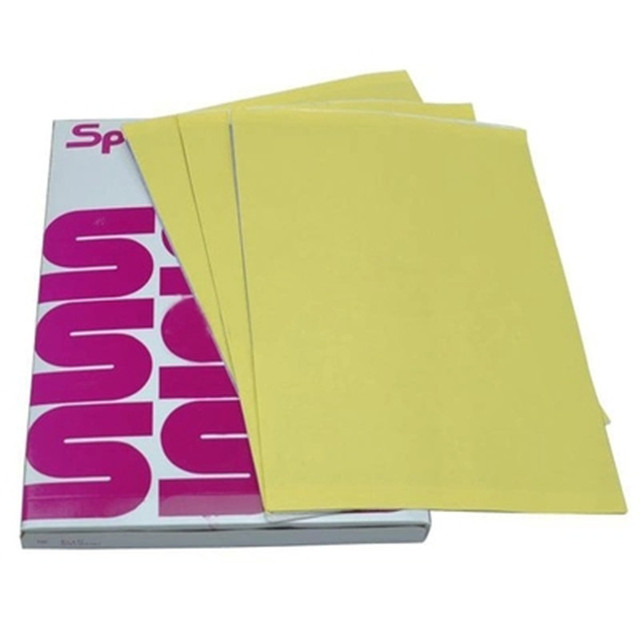 100 arkuszy papier do transferu tatuażu papier do tatuażu w formacie A4 szablon termiczny papier do kopiarki węglowej do tatuażu
