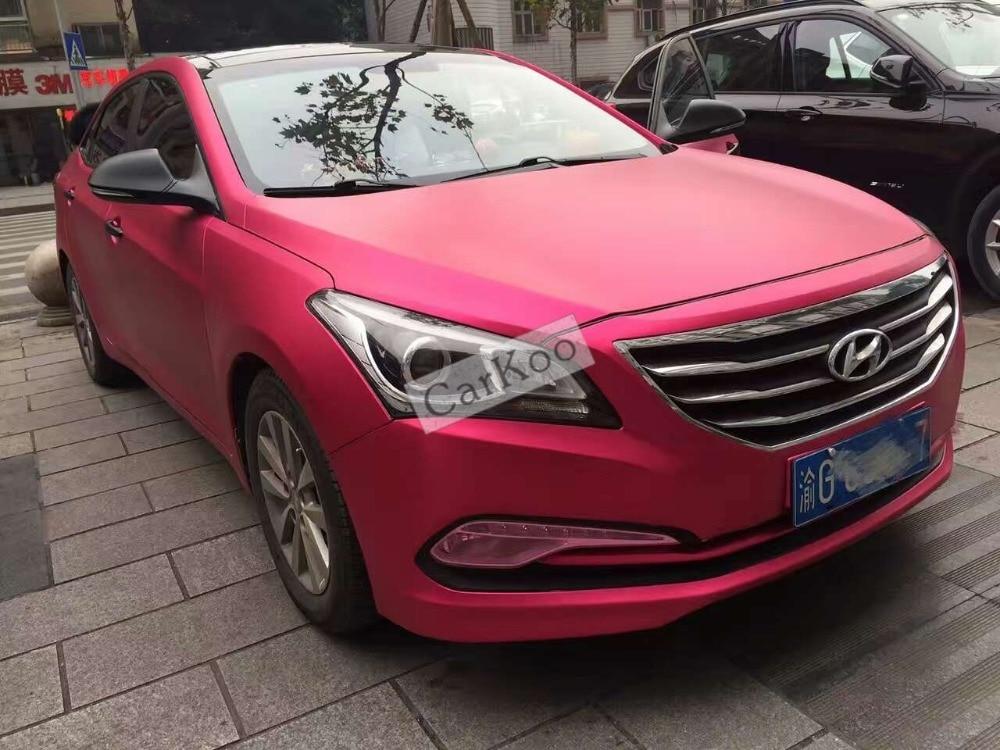 Розово-Красный матовый хром винил автомобиль упаковка винил изменение цвета клей матовая пленка с воздушный пузырь свободный металлический
