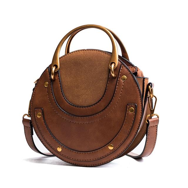 Round Shoulder Messenger Bag
