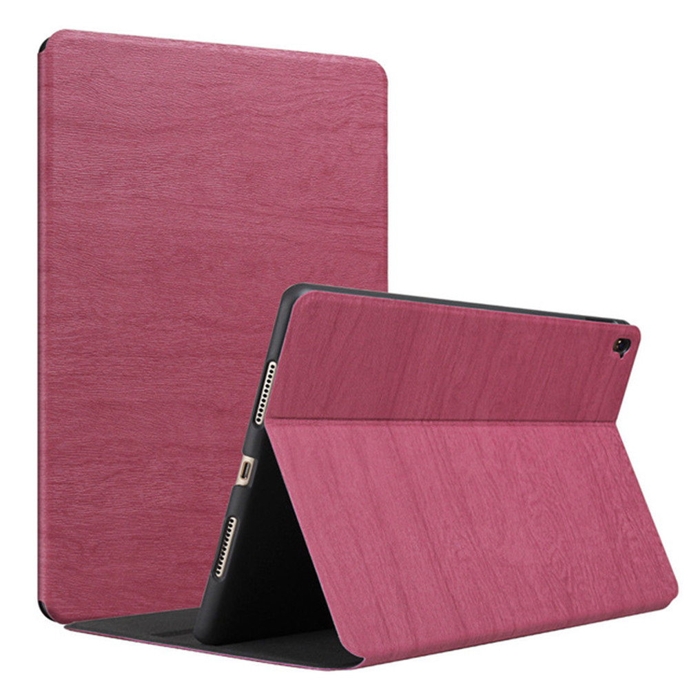 Wood PU Leather Case For Ipad Mini 3 2 1 Case Auto Sleep/Wake Up Flip Cover Smart Stand Holder Folio Protective Case For Apple