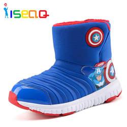 Дети мальчики зимние ботинки для мальчиков мультфильм обувь для детей высокого качества Caterpillar снегоступы для детей EUR 26-33