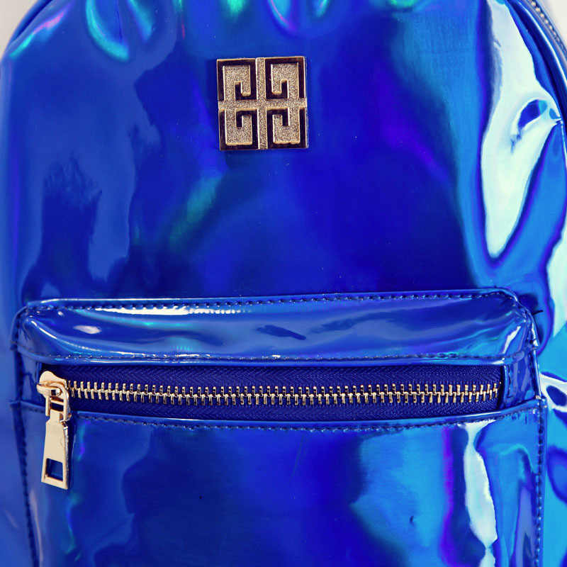 Лазерная голограмма для женщин рюкзак для девочек подростков школьная сумка из блестящей искусственной кожи женский голографическ