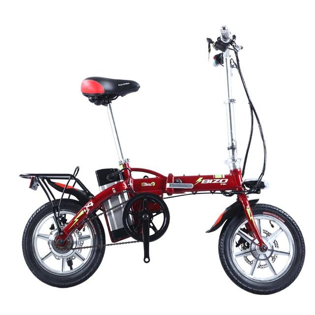 Cheap BIZOBIKE SPORT Free Shipping 36v 8AH Electric Folding City Bike Road Bicycle With 250w 8Fun Hub Motor