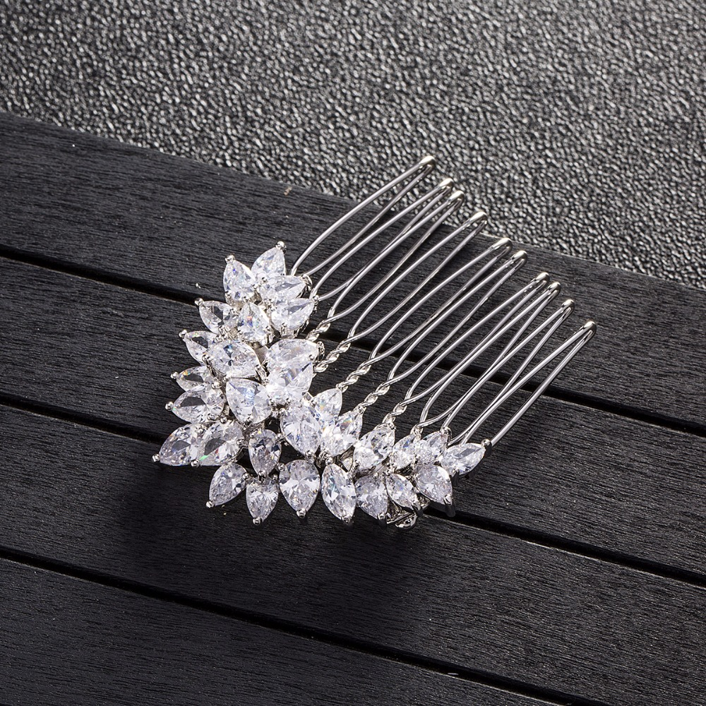 wedding accessories for hair Twist inserted comb Micro inlay zircon Small hair clasp in Hair Jewelry from Jewelry Accessories