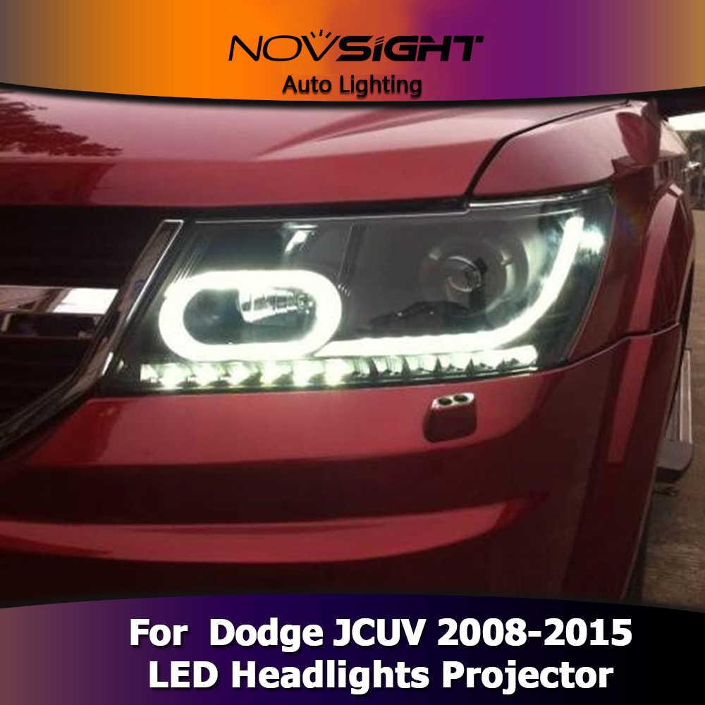 NOVSIGHT светодиодный фары проектор сборка свет сигнал поворота автомобиля свет в сборе для Dodge JCUV 2008-2015