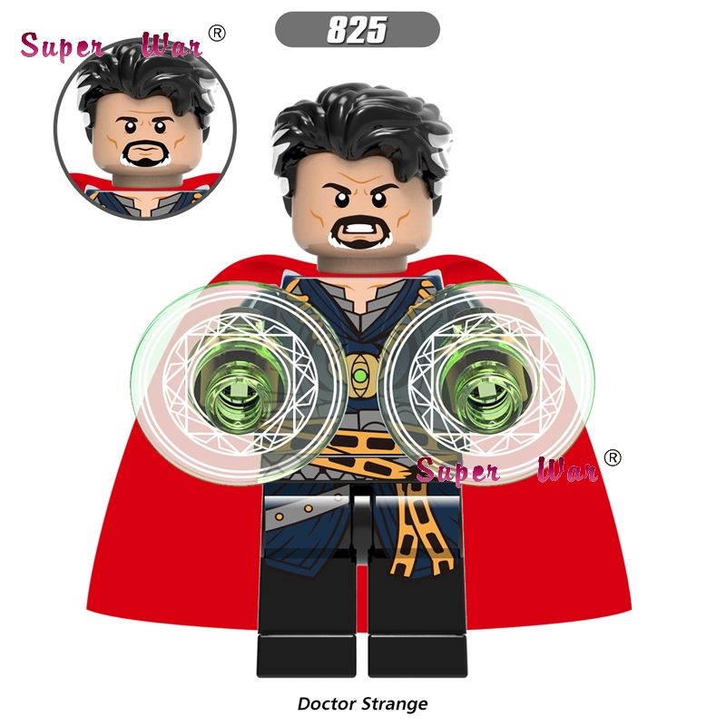 50pcs Marvel Avengers Infinity War Iron Man Doctor Strange figure Captain America Spider-Man building block for children toys