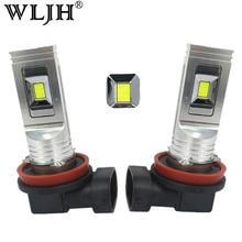 Wljh 2x LED H11 80 Вт туман лампочка вождение автомобиля днем Бег лампы ДРЛ свет 1500lm LED для honda fit Civic CR-V Z пилот