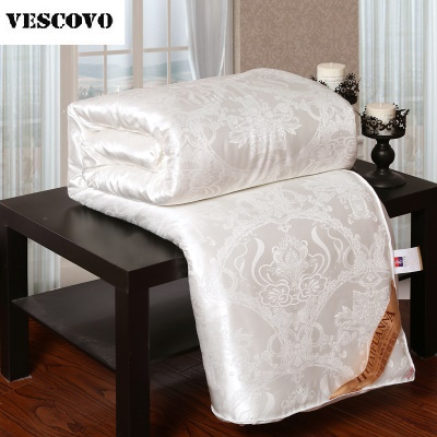 Natural Mulberry Luxury Silk Comforter Hand made Twin Queen King Full size Blanket Quilt jacquard Bedding