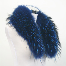 10 Colors Real raccoon fur collar women winter fashion jacket scarf Lining 80cm Wholesale / Retail S1531WS