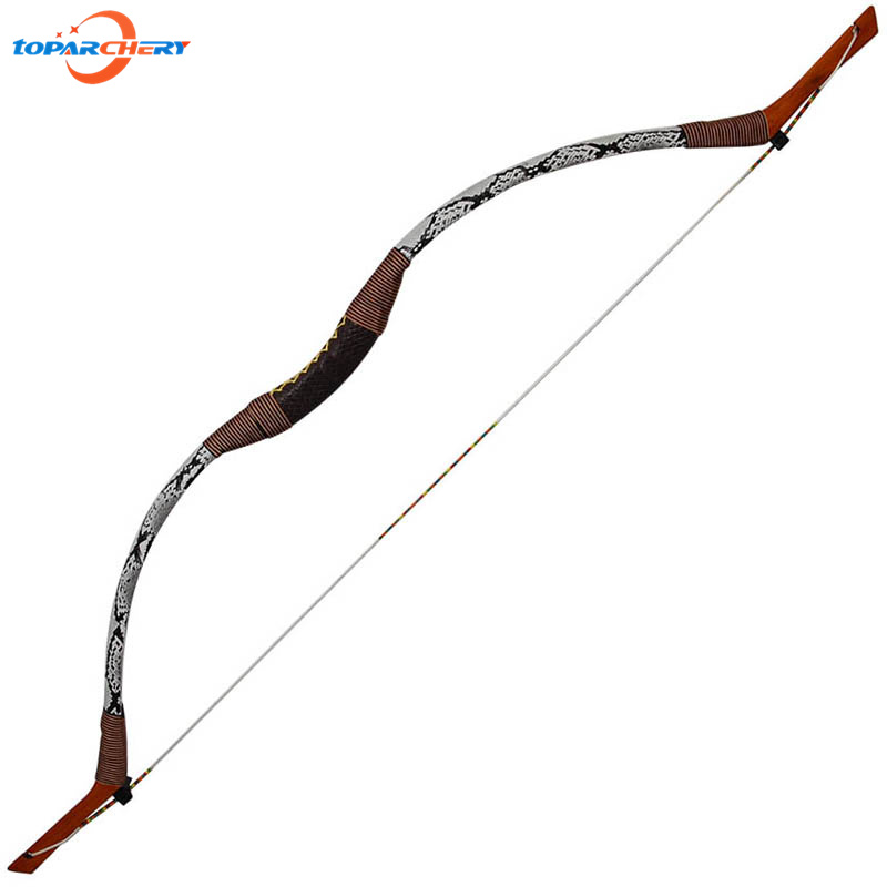 35lbs 40lbs 45lbs Archery Hunting Bow Arrows Handmade Snakeskin Traditional Longbow for Outdoor Shooting Games Slingshot Bow ...