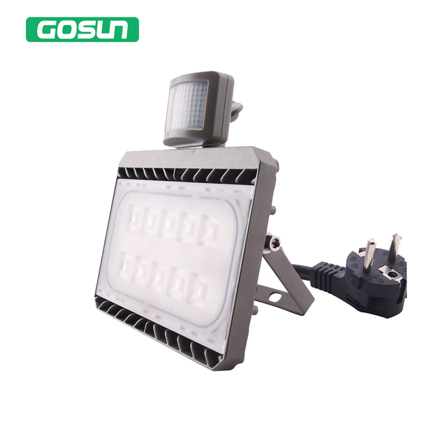 Led Flood Light Motion Sensor 50W 30W 220V 110V Waterproof IP65 PIR Garden  Spotlight Outdoor Lighting