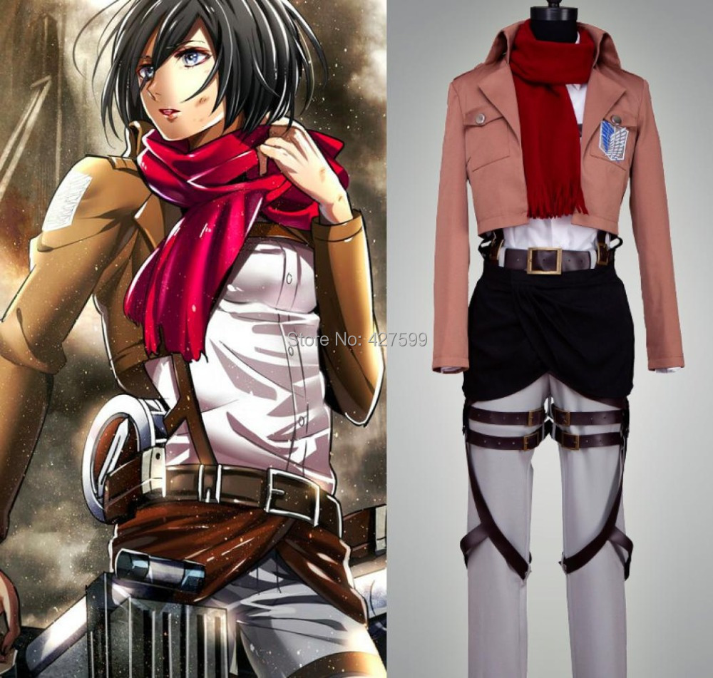 Us 159 95 Hot Attack On Titan Shingeki No Kyojin Mikasa Ackerman Suit Cosplay Costume In Anime Costumes From Novelty Special Use On Aliexpress