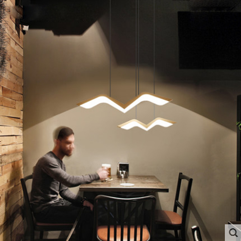 Modern LED pendant lamp Lighting White Seagull acrylic Design Remote Control Dimmer Restaurant Decoration Lighting hanging lamp black and white round lamp modern led light remote control dimmer ceiling lighting home fixtures