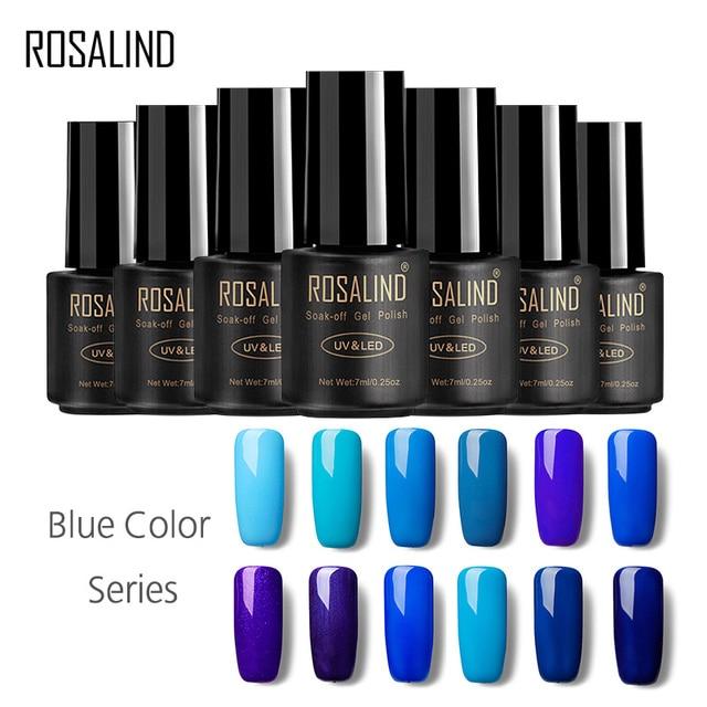 ROSALIND Gel 1S Nail Gel Polish 7ML Blue Color UV LED Semi permanent Manicure Art For Nails Gel Lacquer Nail for gel varnish
