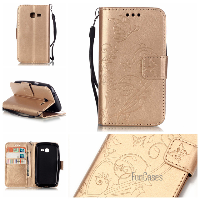 Flip Case for coque Samsung Galaxy Fresh Duos S7392 Case for fundas Samsung Trend Lite S7392 S7390 GT-S7392 GT-S7390 Case Cover