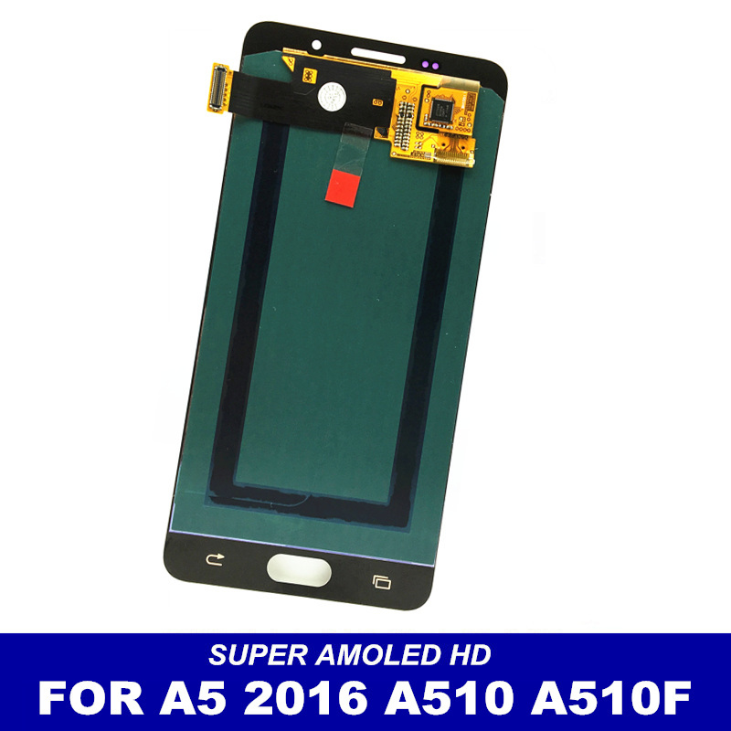 imágenes para 100% Probado LCD de Reemplazo Para Samsung GALAXY A5 2016 A510 A510F A510M A510FD A5100 A510Y Pantalla LCD Táctil Digitalizador Asamblea