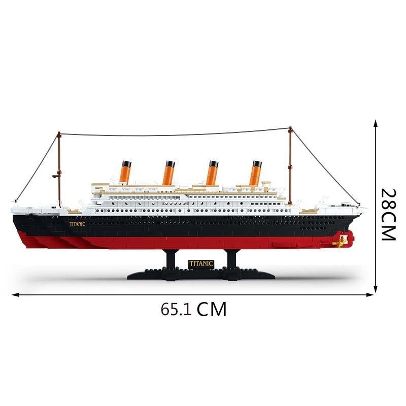 Sluban B0577 1021PCS Building Blocks Toy Cruise Ship RMS Titanic Ship Boat 3D Model Educational Toy legeod brinquedos