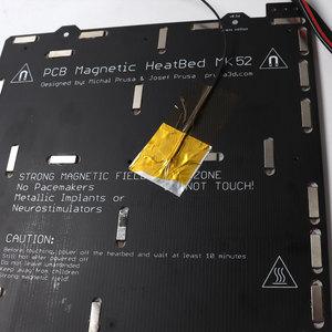 Image 3 - Prusa i3 MK3/MK3S MK52 加熱されたベッド 24V 組み立て、 N35UH 磁石、電源ケーブル、サーミスタ、テキスタイルのための DIY 3D プリンタ