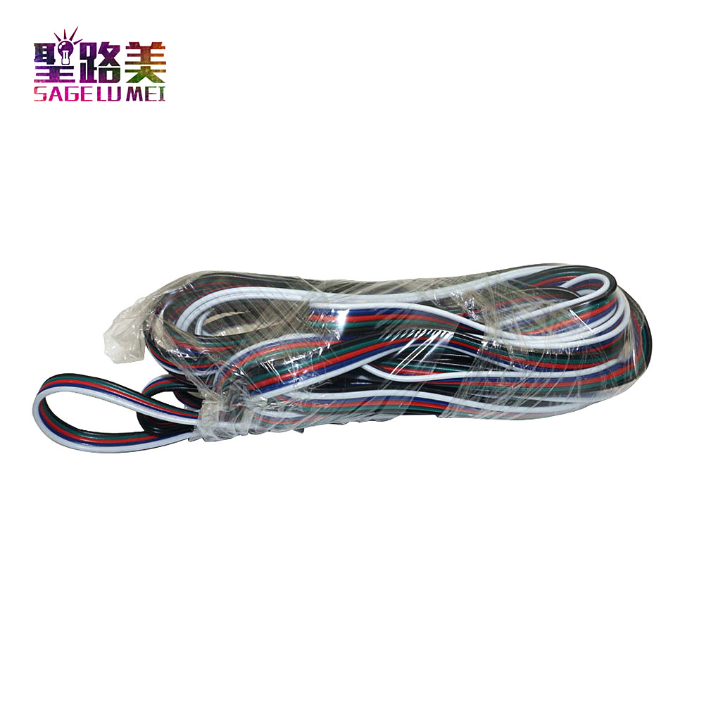Freeshipping 20m 5-pin cable wire 22 AWG RGB Extension Blue/Red/White/Green/Black for RGBW SMD 5050 3528 Led RGB strip light freeshipping 2xlot 108 3w rgbw wash led moving head light 24 red 28 green 28 blue 28 white edison led 3w free clamp safety wire