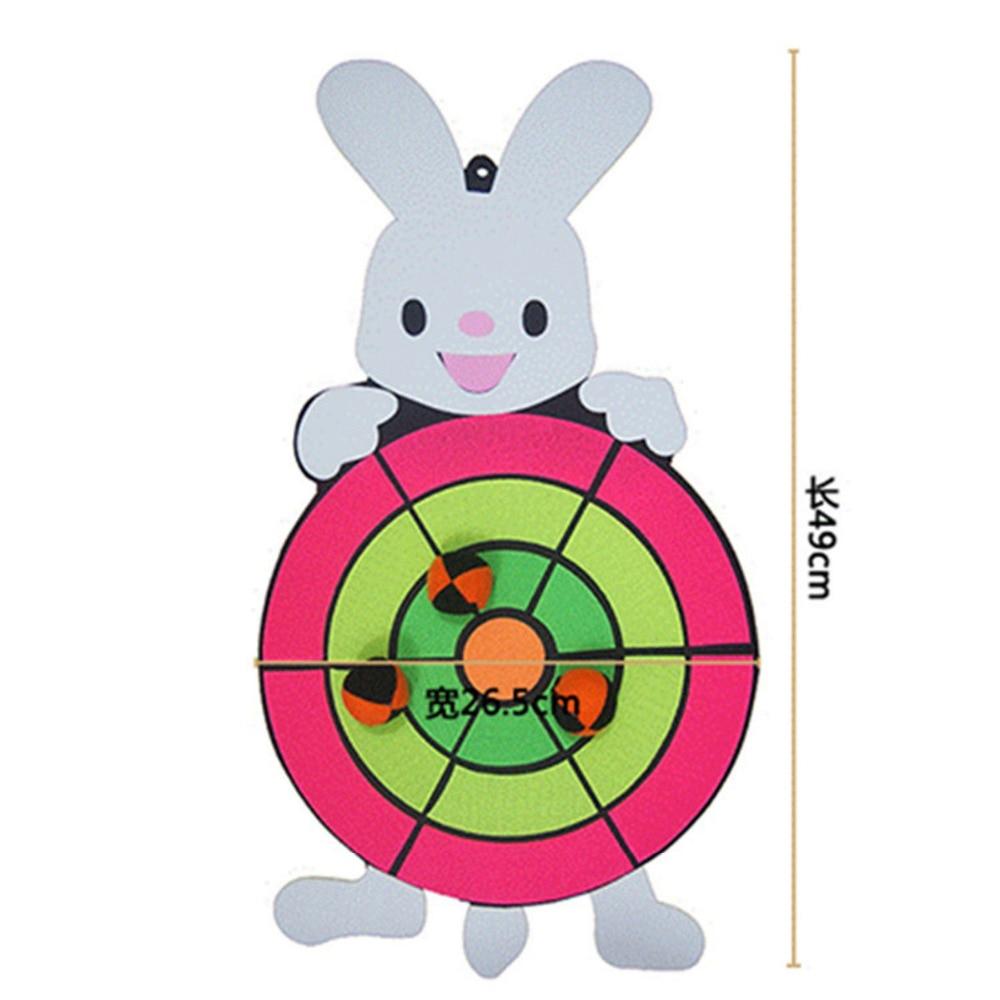Fun Ball Sandbag Throwing Target Plate Game Cartoon Hobbies Toy Sports Children Sticky Animal Kindergarten Baby Indoor Outdoor