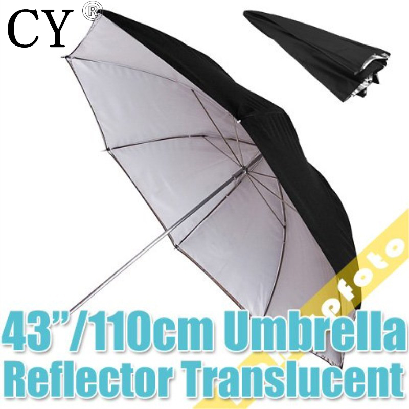 Inno Photo Studio Vedio Accessories 43/110cm Studio Black/Silver Reflector/Translucent Umbrella Free Shipping New Arrive PSCU7B
