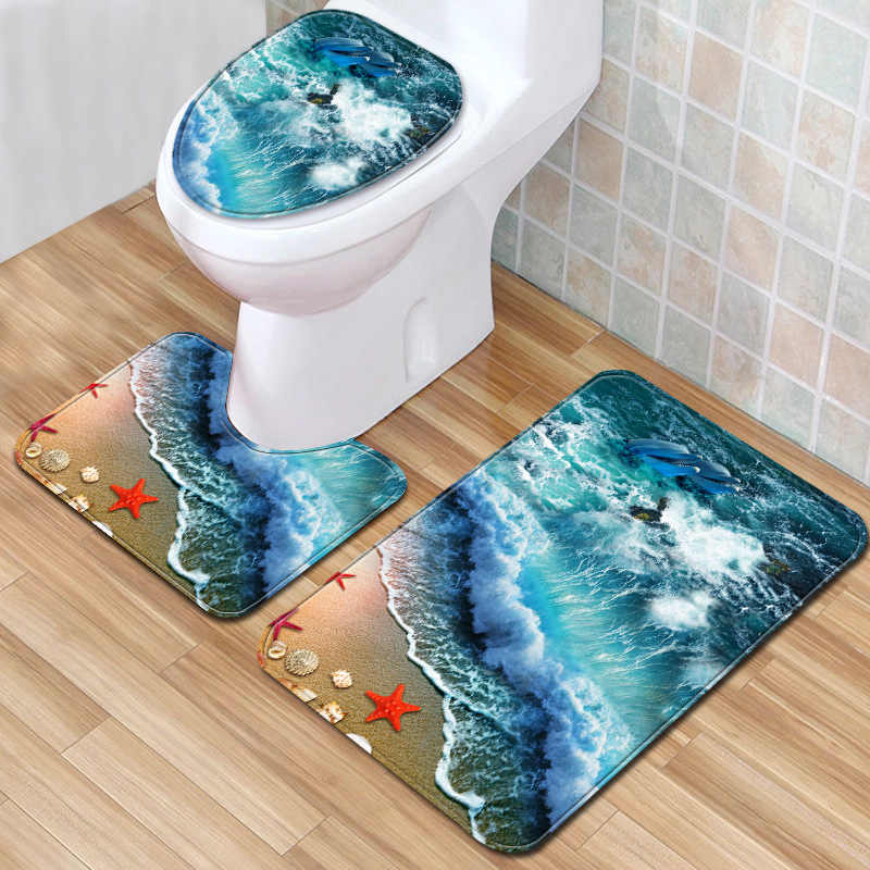 The Wave Bath Mat 3 Piece Bathroom