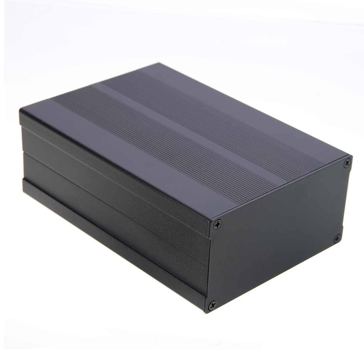 1pc Black Aluminum Enclosure Box Case Circuit Board Project Electronic Black 150*105*55mm For Data Board Power Supply Units black electronic project case aluminum circuit board enclosure box 150x105x55mm with screws