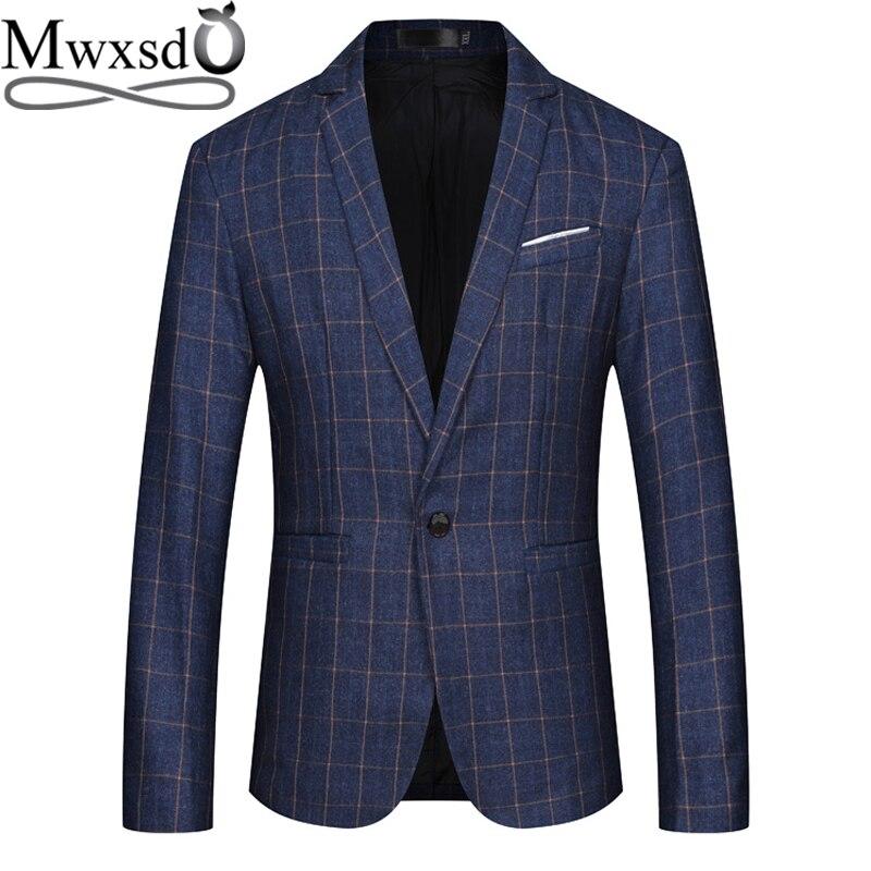Mwxsd Brand Men Casual Blazer Mens Cotton Suit Jacket Slim Fit Blazer Jacket Classic Smart Blazer For Male Big Size 4xl 5xl